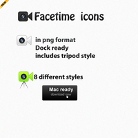 Facetime icons by TheGraphicGeek