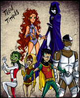 New Teen Titans by Gretlusky