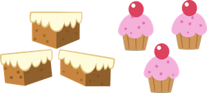 Mr and Mrs Cake cutie marks by The-Smiling-Pony