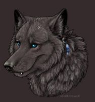 Dark Ice Wolf Headshot by DarkIceWolf