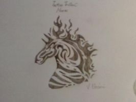 Tattoo Tribal : Horse by chrissyh2015