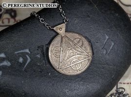 Amulet of Julianos - Stainless Steel Pendant by PeregrineStudios