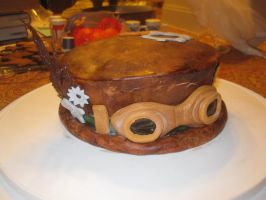 Steampunk hat cake by recycledrapunzel