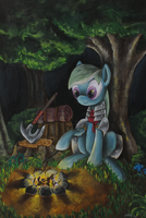 Camping in the woods by frozenpyro71