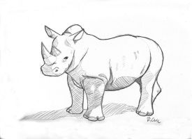 Rhino sketch by rongs1234