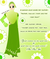 Being the right woman first... by nur92