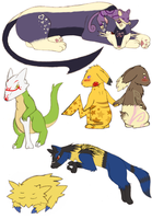 Pokemon sketches colored 2 by mew-trainer-rose