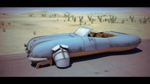 "Desert Car 2 ""Commercial Ad"" by Artificialproduction"
