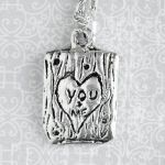 Carved Heart Tree Trunk Necklace - You and Me by foowahu-etsy