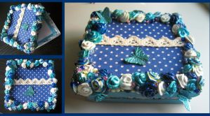Blue rose box by Jessito