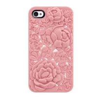 Unique Design Pink Rose Embossing Case for iPhone by tracylopez
