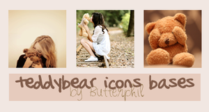 Teddybear-icons bases by Butterphil