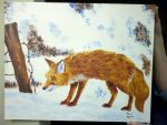 Red Fox in Snow by KacieVictoria