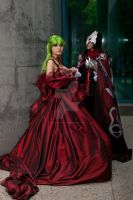 C.C. and Lelouch Prom 01 by DownFall2448
