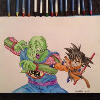 King Piccolo VS Goku - Dragonball by pandapopx