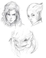 Mass effect  sketches by EduardoGaray