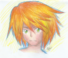 Simple guy with yellow-orange hair by Cynicrylle