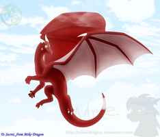 All Red in Blue Skies - To Secret170193 by Mike-Dragon