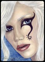 ACEO - Sapphire Stare by ElvenstarArt