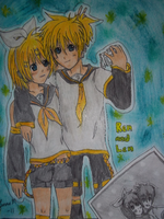 Rin and Len by 565mae10