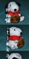 snoopy plushie by Tikkaaa