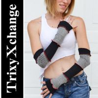TX Grey Nordic Baby Arm Warmer by TrixyXchange