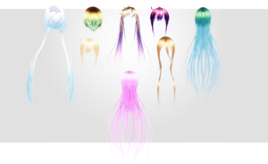 MMD Kiss U Hair Pack by amiamy111