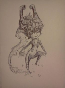 Midna Sketch by MelodicArtist