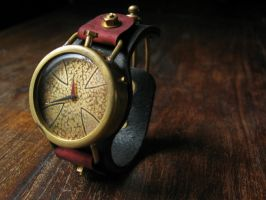 steampunk watch Red Baron 2 by DasKabinettWatches