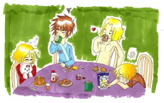Hetalia - HAPPY FAMILY TIME by thatgirl255