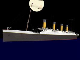Titanic After The Iceberg Cinema 4D Render by JakAndDaxter01