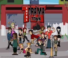 Total Drama Town - [Group Shot] by Wiz-Dan