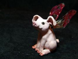 ooak fairy pig by AmandaKathryn