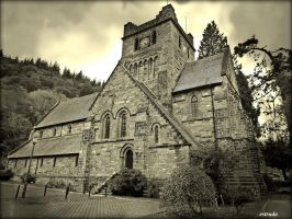 Betws-Y-Coed Church by Estruda