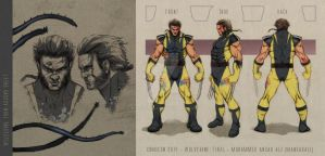 Comicon 2014 Wolverine turnaround sheet by mansarali