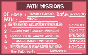 HSV: Path mission sheet 2 by yinyangswings