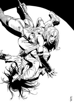 Inks: Vampire by E J Su by JimCampbell
