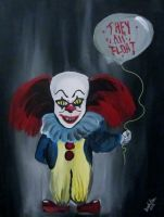 Fun sized Pennywise by AmandaPainter87