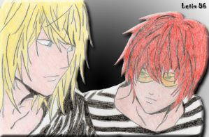 Mello and Matt - Best Friends by Letix86