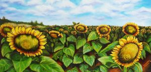 Sunflowers by SamanthaJordaan