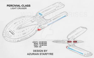 Percival Class Starship by starwolfx