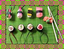 Christmas SUSHI Ornaments by MorganCrone
