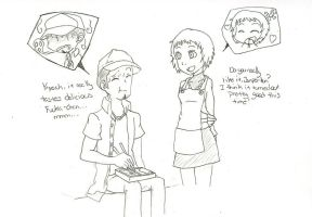 Junpei and Fuuka Comission WIP by LadyK
