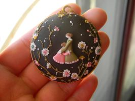 Mother And Daughter Pendant-Polymer Clay by ThePetiteShop
