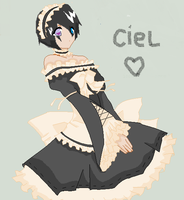 ciel teh maid by saikka