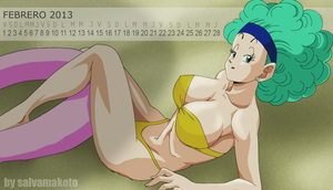 BULMA EN LA PLAYA by salvamakoto