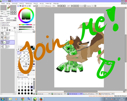 Join.me! Drawing my art trade with FaineSpades! by GiaMinecraft