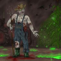 Angry Zombiefarmer by Fagertveit