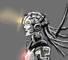 GLADOS profil sketch by gnomKOLIN