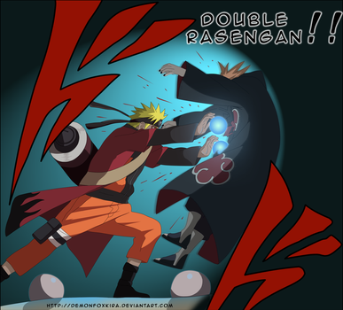 DOUBLE RASENGAN by DemonFoxKira